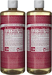 product image for Dr. Bronner's Organic Pure Castile Liquid Soap, Rose, 32 oz, 2 pk