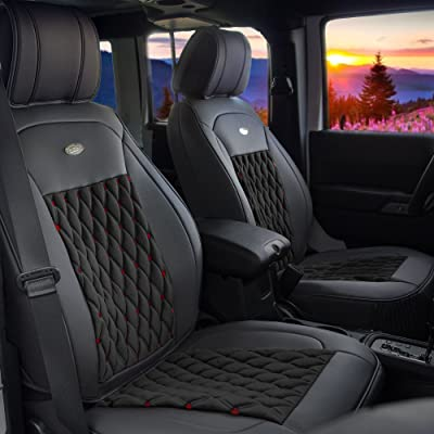 FH Group Ultra Comfort Leatherette Front Seat Cushions (Airbag Compatible): Automotive