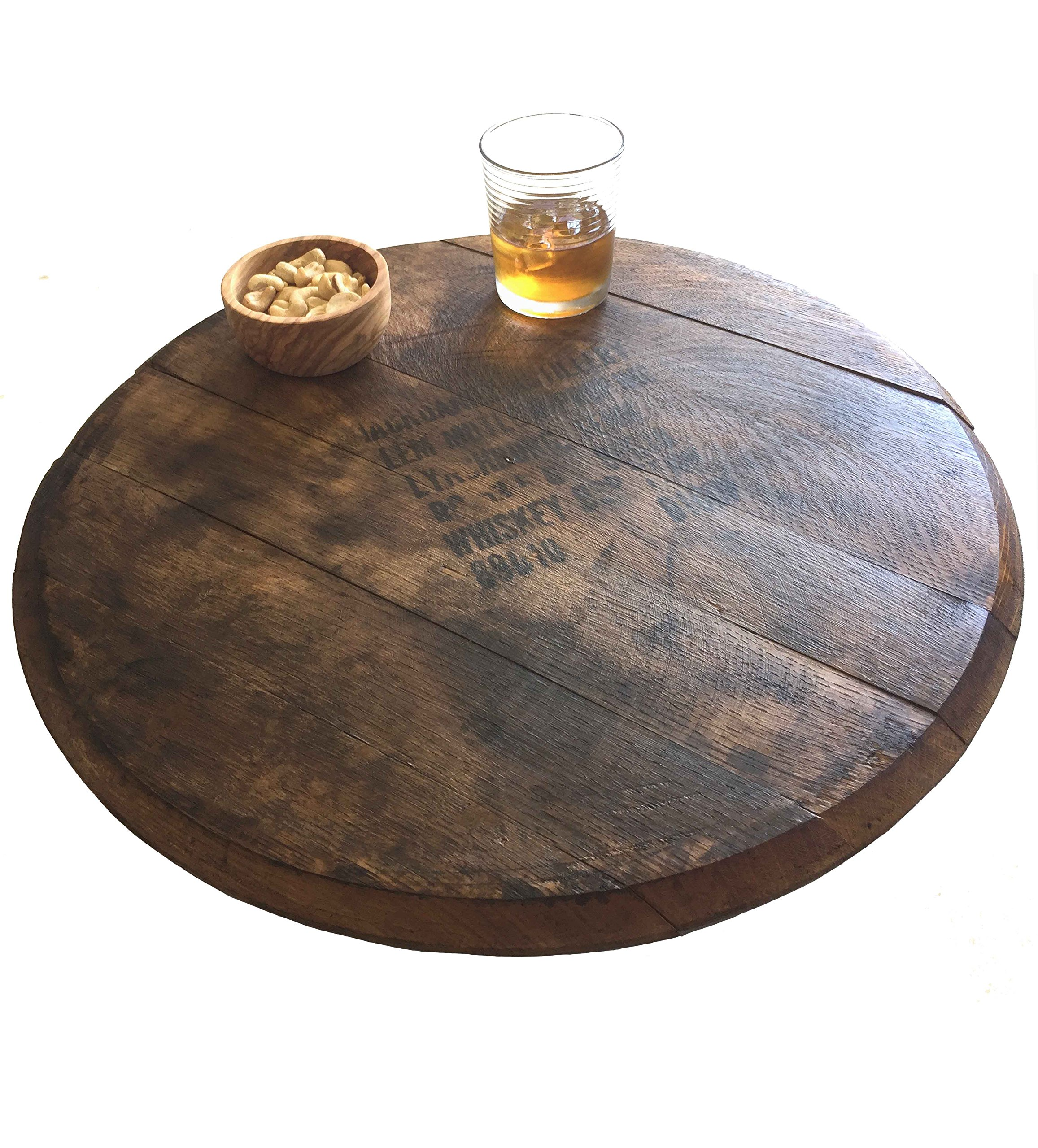 Vintage Jack Daniel's Whiskey Bourbon Barrel Lazy Susan, 21-Inches by Rustic Wall Co. by Rustic Wall Co.