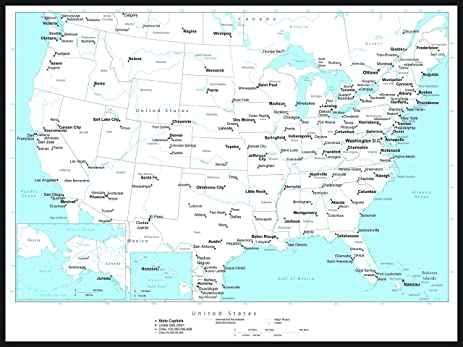 Amazoncom Magnetic Black And White USA Map Dry Erase Calendar - Us map dry erase