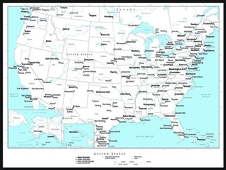 Amazoncom Magnetic Black And White USA Map Dry Erase Calendar - Us map dry erase