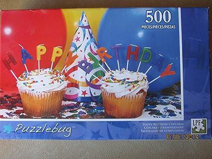 Amazon.com: Puzzlebug 500 Happy Birthday Cupcakes: Toys & Games