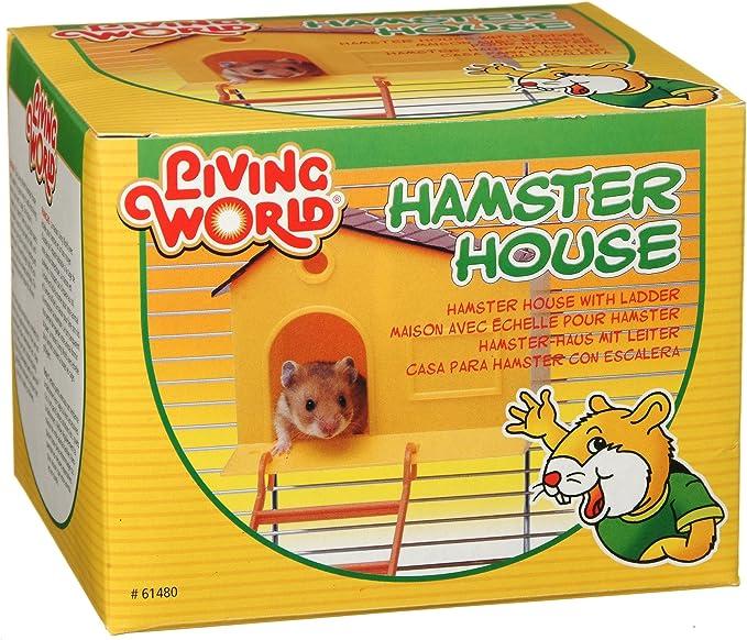 LIVING WORLD Vida Mundo casa de hámster, con Paso Escalera: Amazon.es: Productos para mascotas