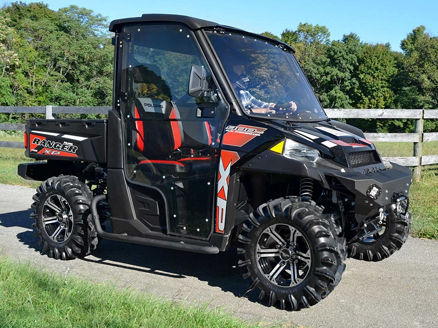 Polaris Side By Side >> Superatv Full Cab Doors For Polaris Ranger Xp Full Size 570 900 1000 Includes Side View Mirrors Pair Of Front Doors