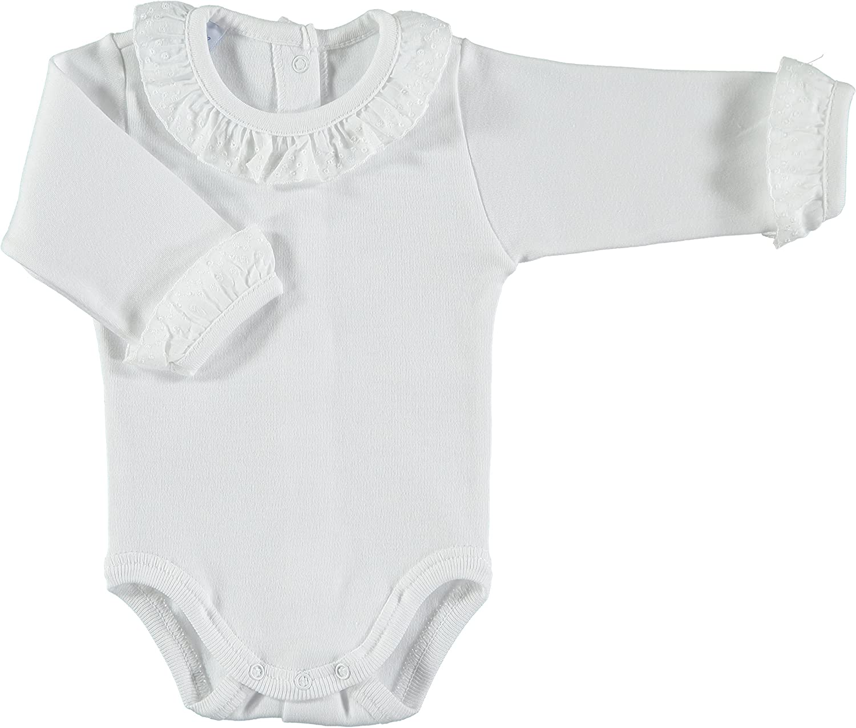 BABIDU Baby-Unisexs Body Cuello Batista Bodysuit