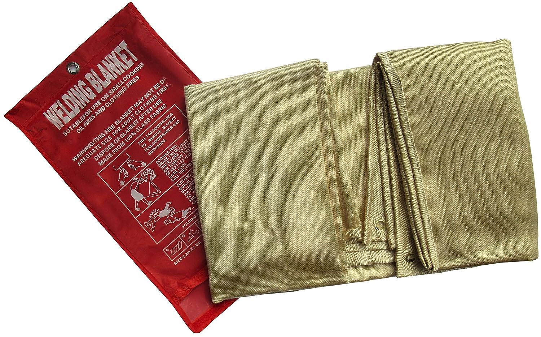 Tonyko Manta protectora de fibra de vidrio resistente, manta de supervivencia de emergencia, manta de soldadura y manta ignífuga con varios ...