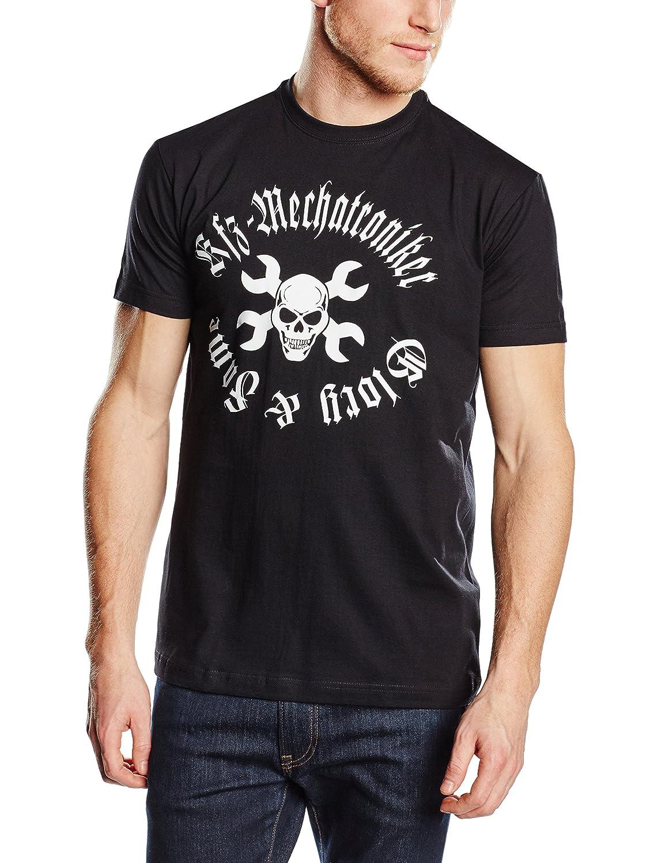 Damen T-Shirt SCHRAUBER SKULL KFZ Mechanikerin 100/% Baumwolle schwarz S M L XL