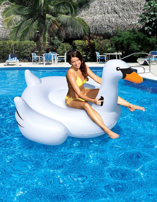 Wasserversorgung Berg PVC aufblasbare Schwan Schwimmbad Arbeitnehmer Unisex: Schwimmen Ring/2-3 man verwenden kann, Wasser-Freizeit-Spielzeug , 190cm