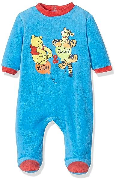 Disney Winnie The Pooh, Pijama para Bebés, Azul (18-4247TC),
