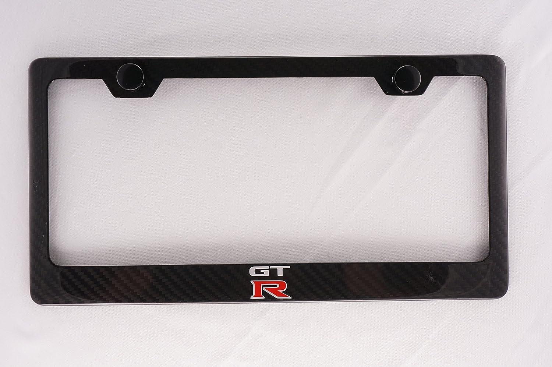Nissan GTR Carbon Fiber License Plate Frame with Cap