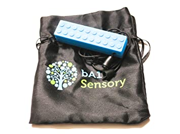 bA1 Sensory Chewelry Necklace - (Blue) - Perfect Chew Fidget for Autism ADHD SPD