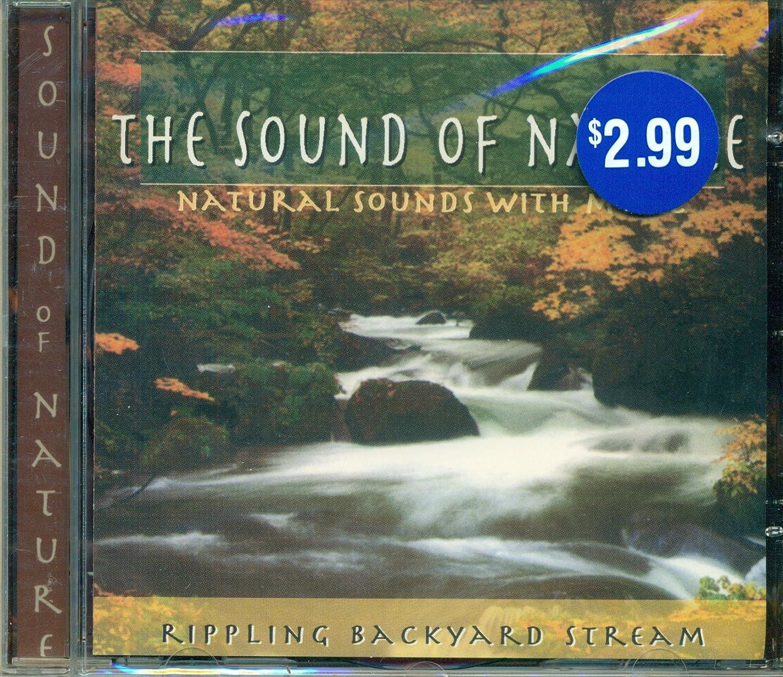 nature sound of nature rippling backyard stream amazon com music