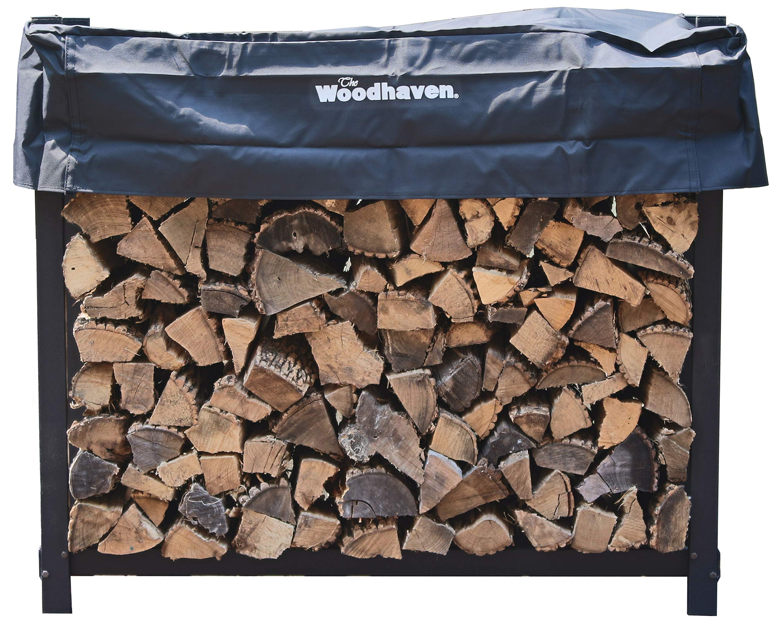 Woodhaven The 4 Foot Firewood Log Rack with Cover by Woodhaven