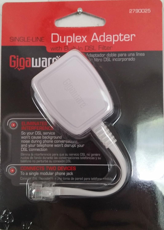 GigaWare® Single-Line Duplex DSL Filter