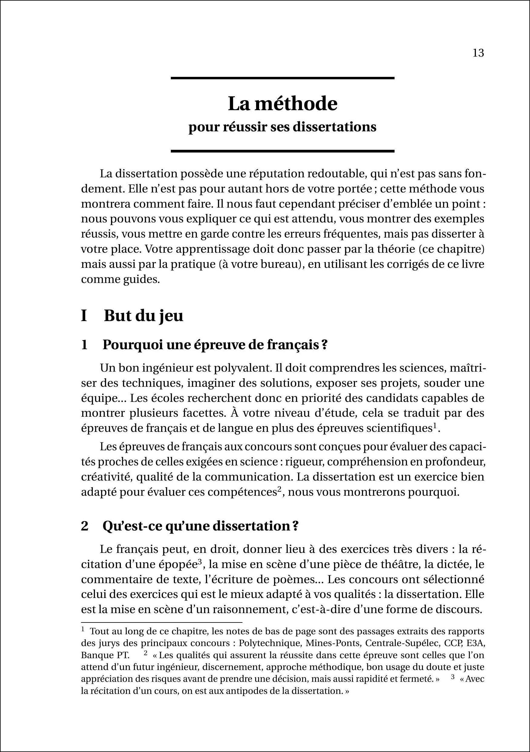 dissertation sur les pass