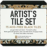 Studio Series Artist's Tiles Black: 75 Acid-free Black Tiles