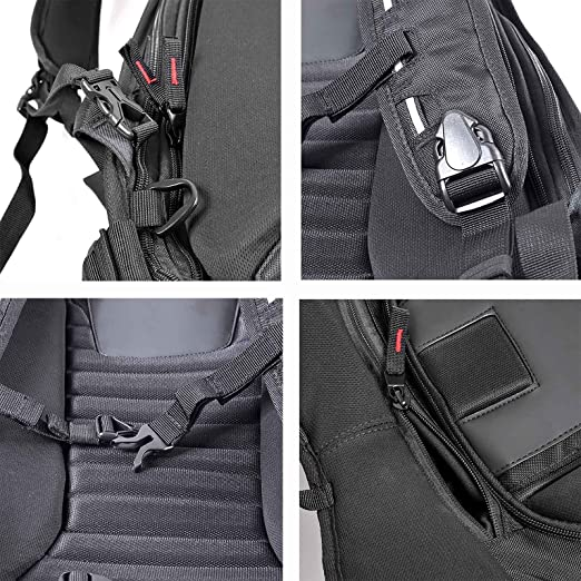 19416ea1b21e6 Amazon.com   Motorcycle Backpack Motorsports Track Riding Back Pack Stealth  No Drag Molded   Sports   Outdoors
