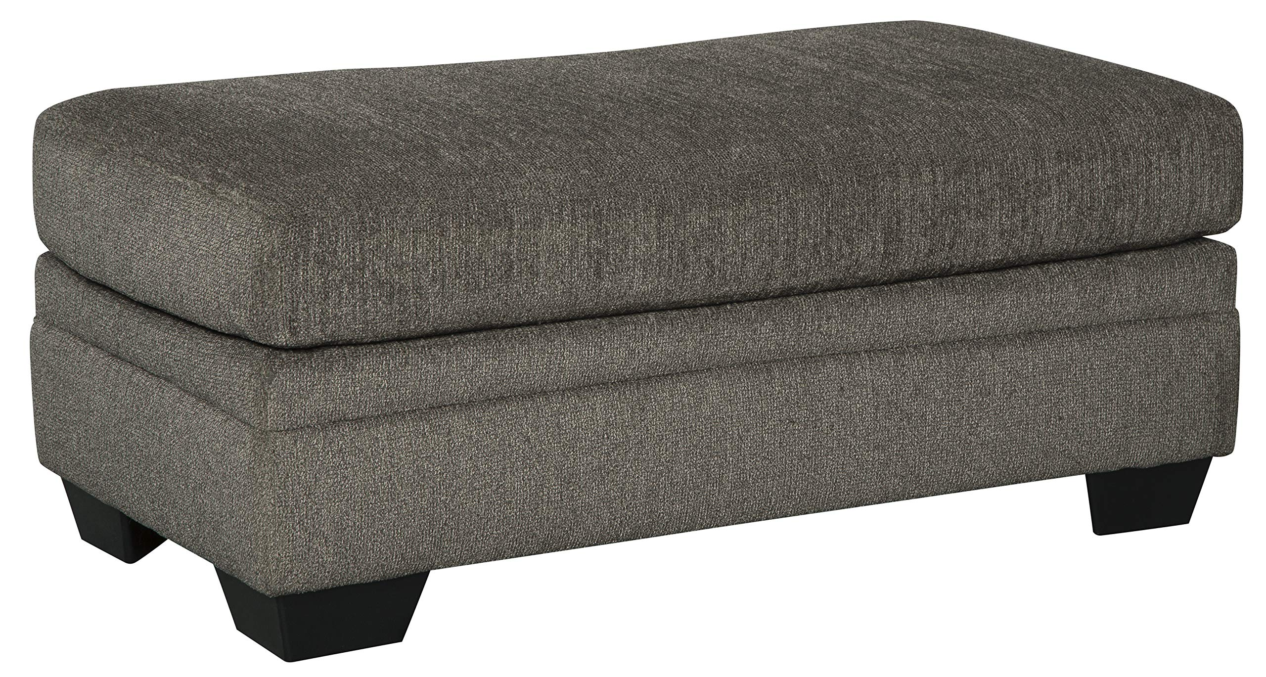 Ashley Furniture Signature Design - Dorsten Contemporary Ottoman and Footrest - Slate Grey by Signature Design by Ashley