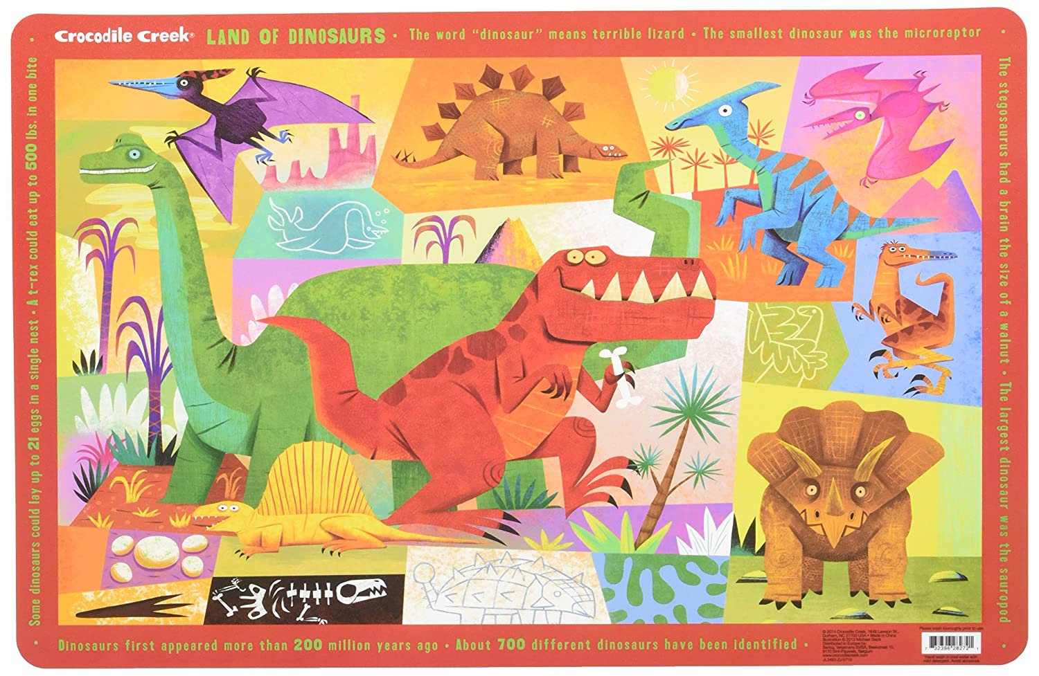 CROCODILE CREEK Placemat Land Of Dinosaurs 1 Each CRC2827-2