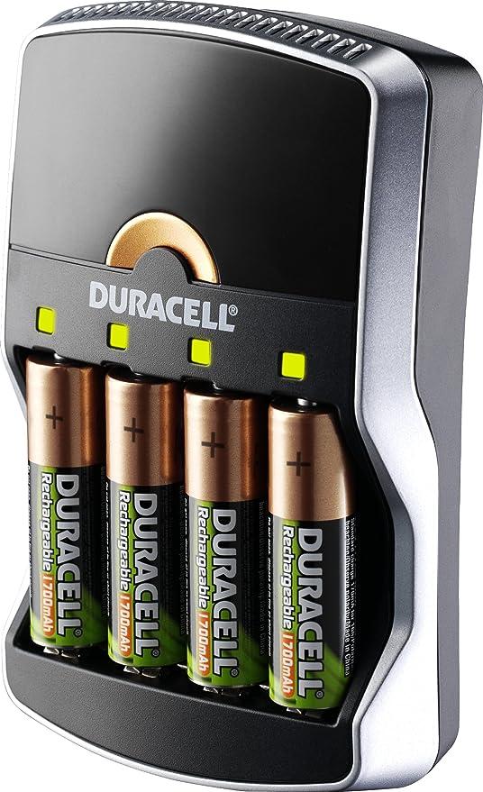 Duracell - Cargador - 15 minutos + 2 AA 1700mAh + 2 AAA 750mAh