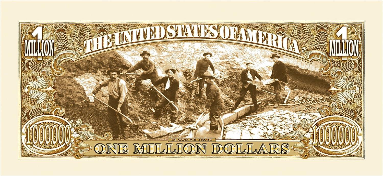 Set of 100-1849 Gold Rush Million Dollar Bill
