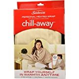 "Sunbeam Chill Away Heated Fleece Wrap, 25"" x 57"", Sand"