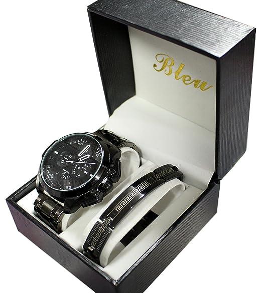 Coffret reloj hombre Ernest negro Gros reloj XXL Only the Brave: Amazon.es: Relojes