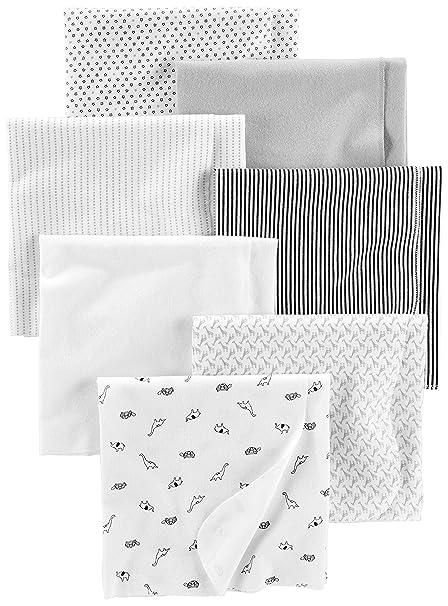 Uniseks Babykleding.Amazon Com Simple Joys By Carter S Baby Unisex 7 Pack Flannel