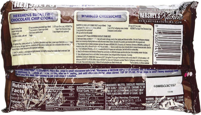 Amazon.com : Hershey\'s Sugar Free Semi-Sweet Baking Chips, 8-Ounce ...