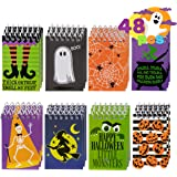 48 Pcs Halloween Spooky Notepad Set in 8 Designs, Trick or Treat Kids Gift Set Halloween Party Favors
