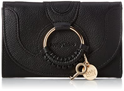 28d129a2 Amazon.com: See by Chloe Women's Hana Compact Wallet, Black, One ...