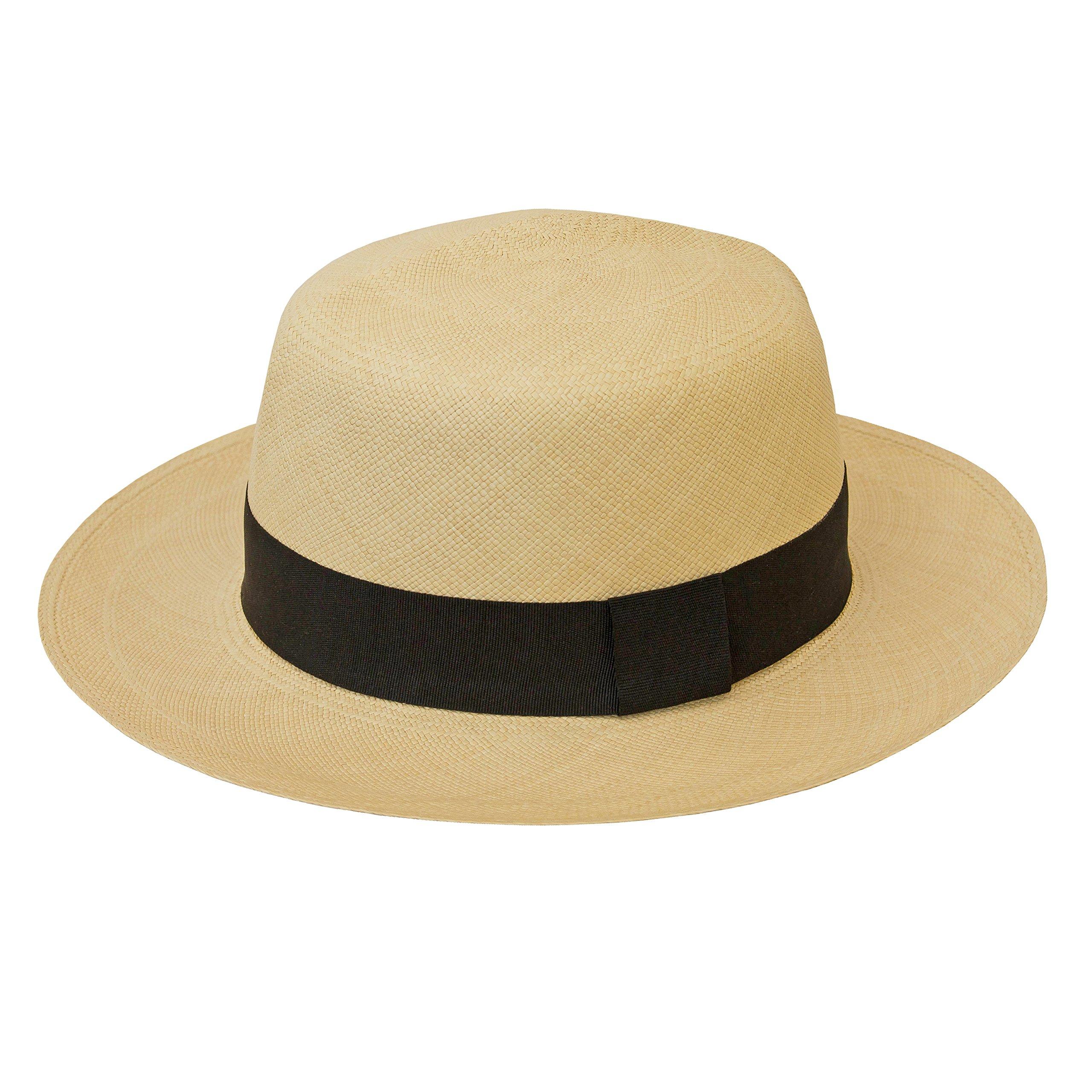 Tumia - Fino Colonial/Folder Style Panama - Premium Quality - Natural with Black Band. 60cm. by Tumia Panama Hats (Image #2)