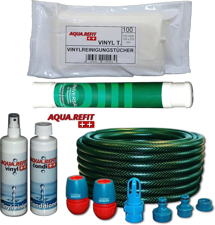 Aqua Refit 2x Conditioner 2x Vinylreiniger 2x Vinylreinigungstücher Wasserbetten