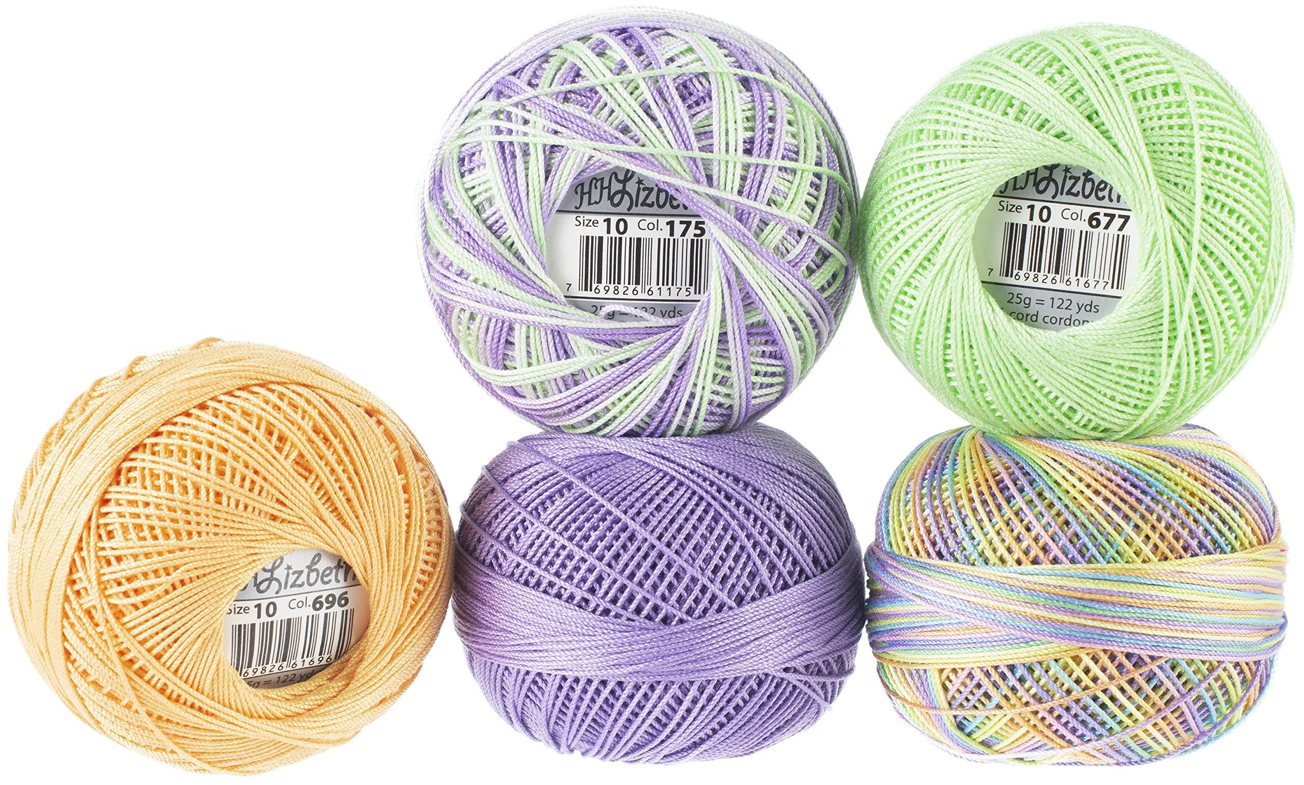 Handy Hands Lizbeth Specialty Pack Cordonnet Cotton Size 10-gum Drop 5/pkg