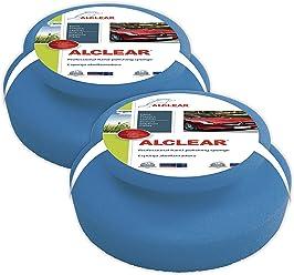 ALCLEAR 5713050M_2 Professional Hand Polishing Sponge. Blue. Size: 5.12 x 1.97 in.