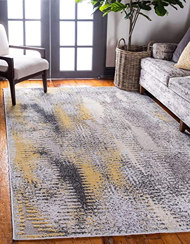 Deal of the week: Unique Loom Outdoor Modern Collection Carved Distressed Transitional Indoor and Outdoor Flatweave Ivory Area Rug 8' 0 x 10' 0