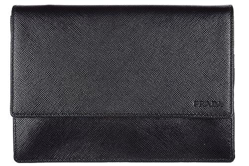 89d22f8cd Prada bolso de mano en piel hombre nuevo negro: Amazon.es: Zapatos y  complementos