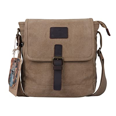 56039f579a Canvas Crossbody Bag TOPWOLF Small Messenger Casual Travel Working Tools  Bag Shoulder Bag Easily Hold Phone
