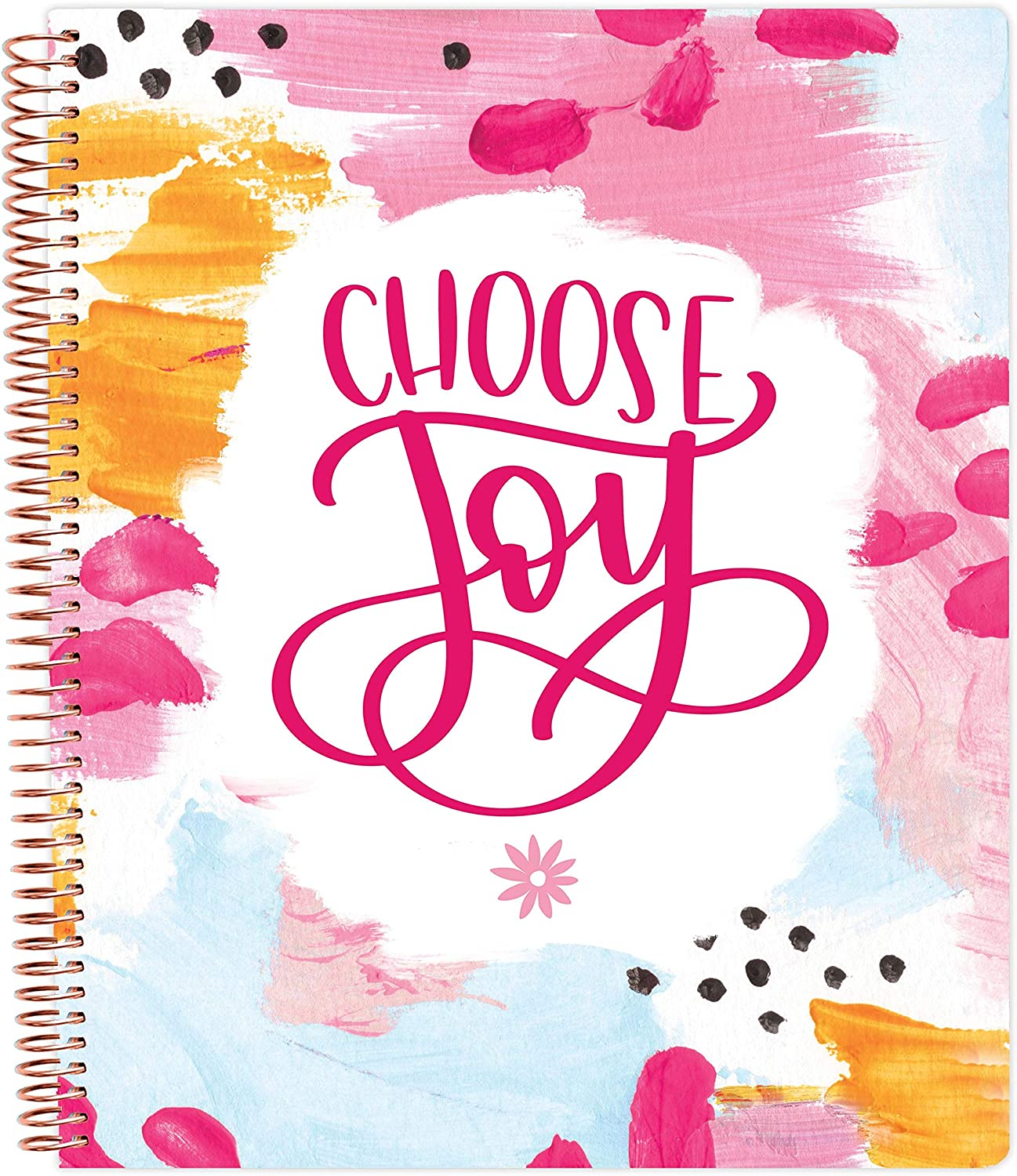 "bloom daily planners All in One Ultimate Monthly & Weekly Undated Calendar Planner, Notebook, Sketch Book, Grid Pages, Coloring Book and More! 9"" x 11"" - Choose Joy"