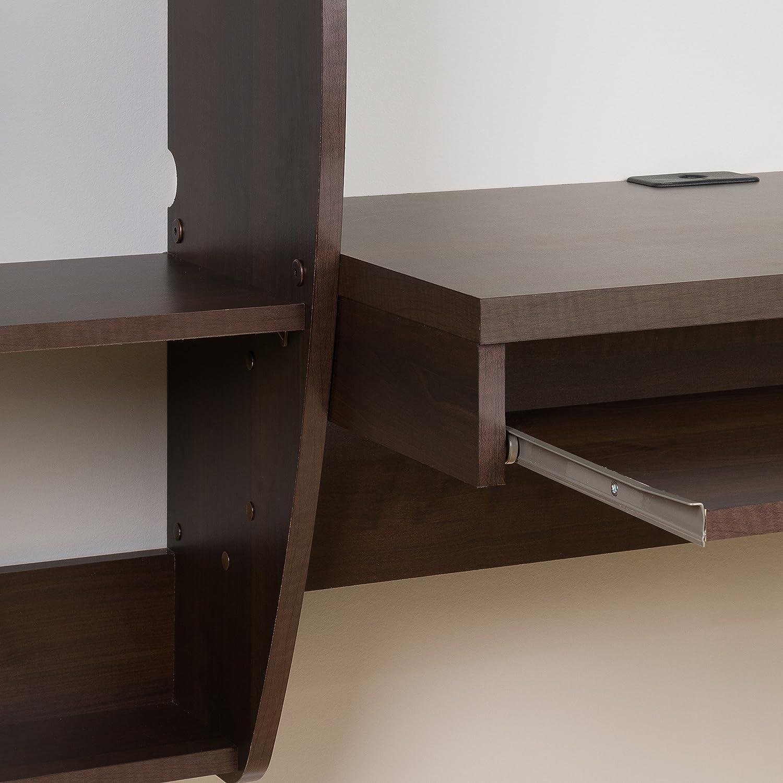 Amazon.com: Prepac Floating Desk With Storage And Keyboard Tray, Espresso:  Kitchen U0026 Dining