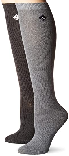 728ae031e Sperry Top-Sider Women s 2 Pack Soft   Dreamy Knee Highs Socks