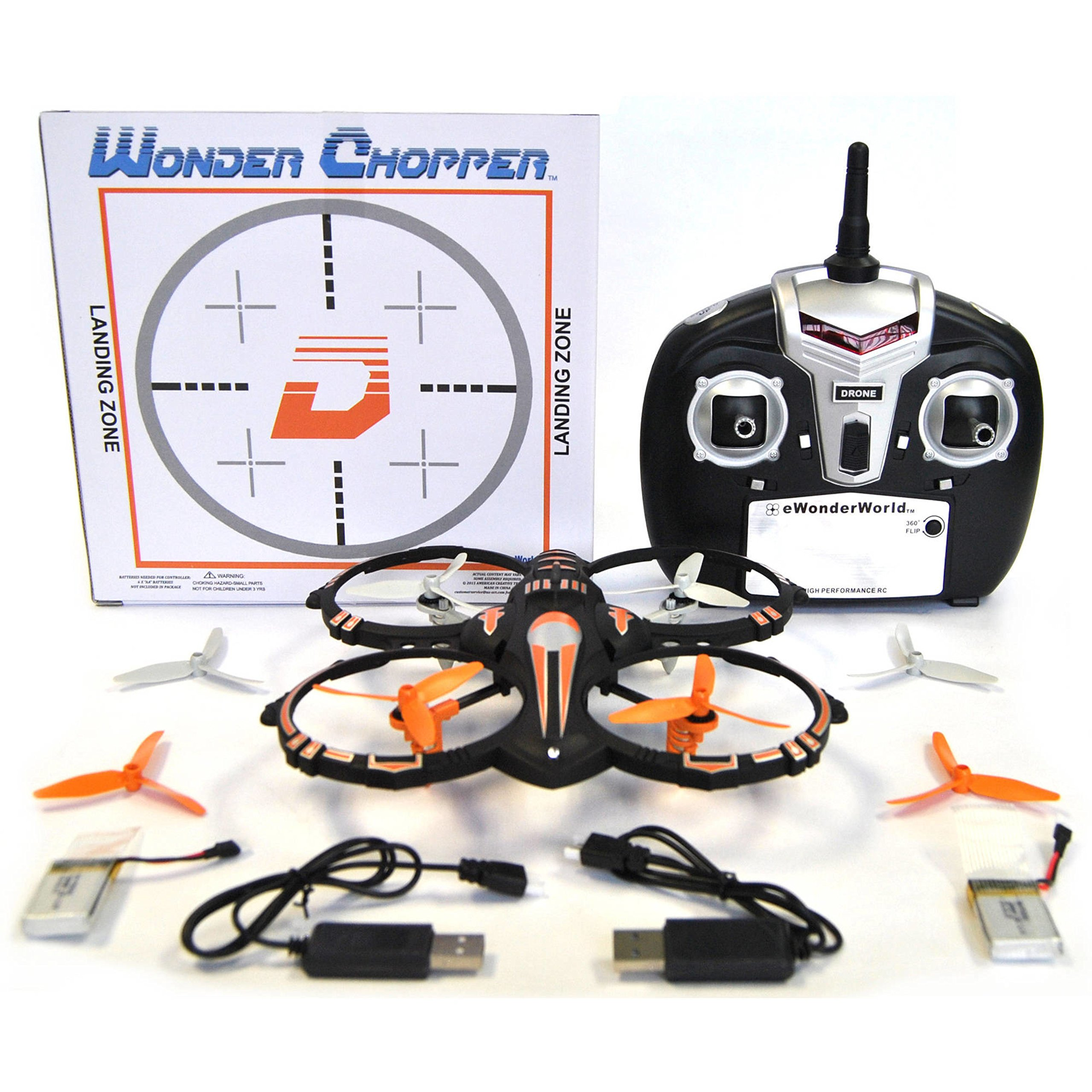 Durable Crash Proof 2.4GHz Stunt Remote Control Drone Quadcopter with 360 Flip by WONDER CHOPPER*