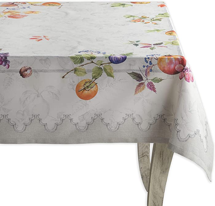 Maison d'Hermine Fruit d'hiver 100% Cotton Tablecloth 54 Inch by 72 Inch. Perfect for Thanksgiving and Christmas