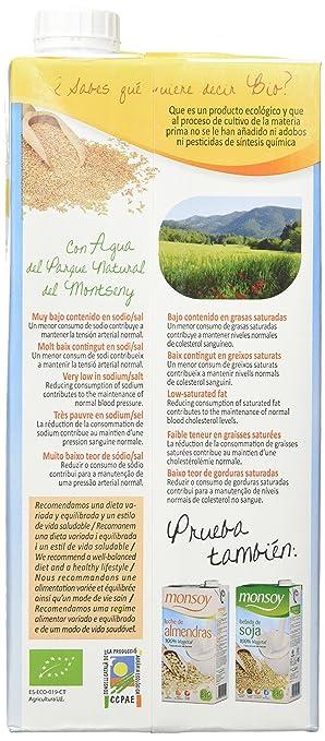 MONSOY Bebida de Avena sin Gluten Ecologica 1L [caja de 4 x 1L]: Amazon.es: Alimentación y bebidas