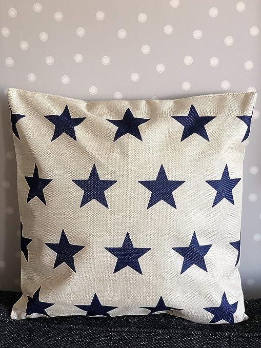 J.T.Hatched - Funda de cojín, diseño de Estrellas, Color ...