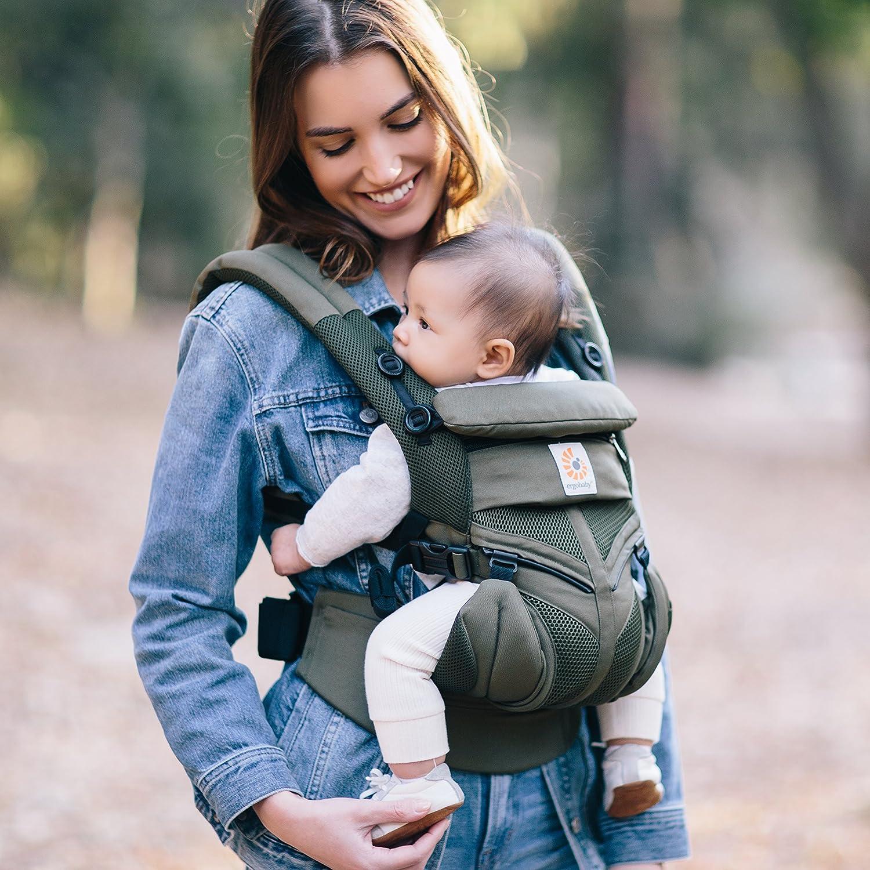 4in1 Omni 360 Cool Air Mesh Babytragetasche Khaki Green Ergobaby Babytrage f/ür Neugeborene ab Geburt