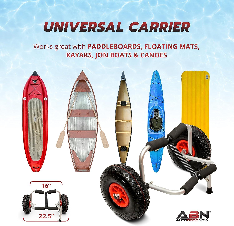 ABN Kayak Cart /& J Rack Bundle Kayak Carrier Wheels Universal Boat Carrier /& Trolley J Bar Rack Roof Top Carrier