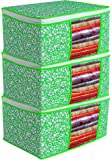 Bilfy Presents Non Woven Saree Cover Storage Bags for Clothes with primum Quality Combo Offer Saree Organizer for Wardrobe/Organizers for Clothes/Organizers for Wardrobe Pack of 3
