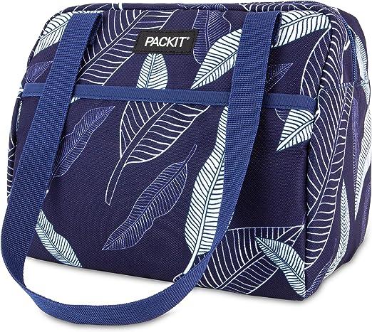 Packit 2221 Freezable Hampton-Fiambrera, diseño de hojas, color azul marino: Amazon.es: Hogar