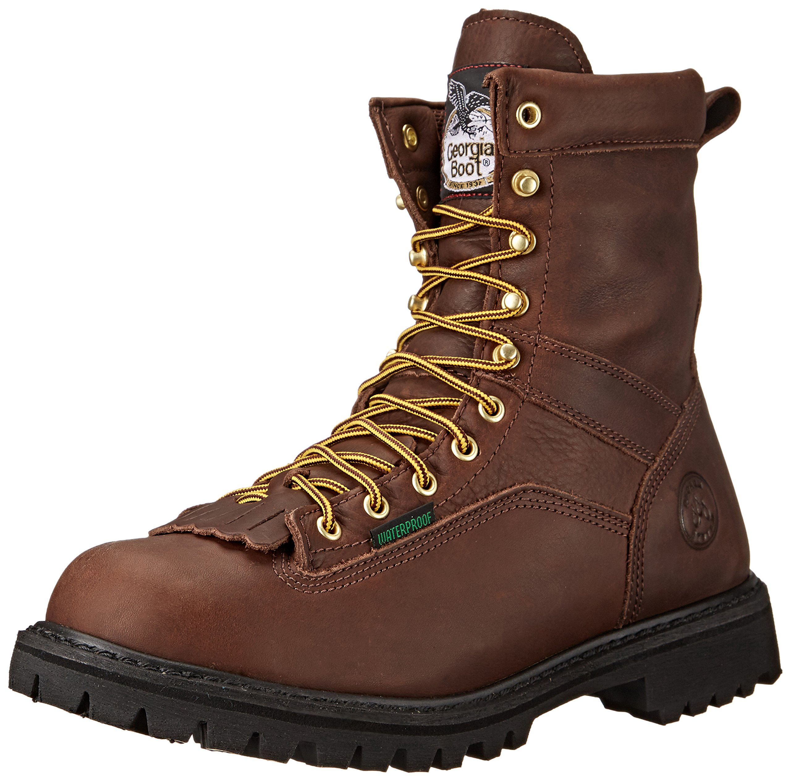 Georgia Men's G8041 Logger M Work Boot, Tumbled Chocolate, 14 W US